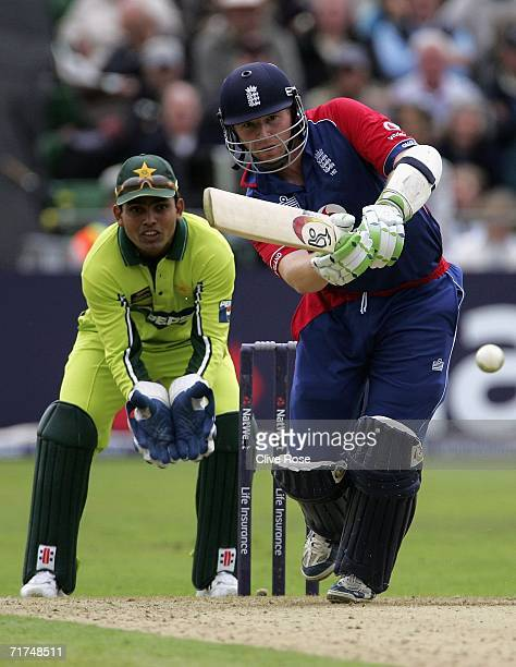 Jamie Dalrymple of England in action during the first NatWest Series One Day International match between England and Pakistan at Sophia Gardens on...