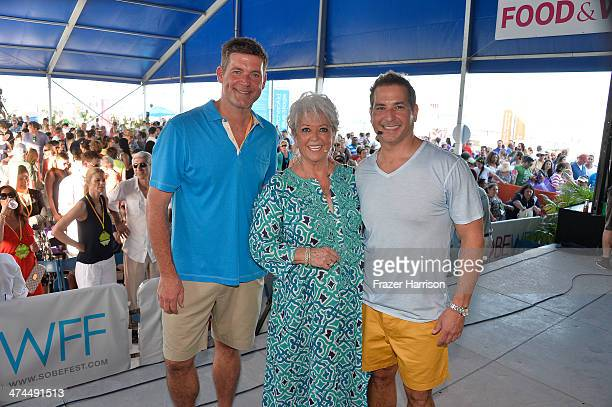 Jamie Deen Paula Deen and Bobby Deen attend KitchenAid® Culinary Demonstrations during the Food Network South Beach Wine Food Festival at Grand...