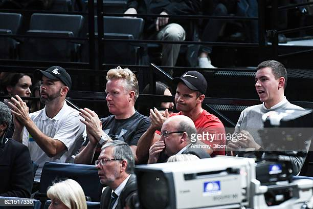 Jamie Delgado coach of Andy Murray during the Mens Singles Final match on day seven of the BNP Paribas Masters at Hotel Accor Arena Bercy on November...