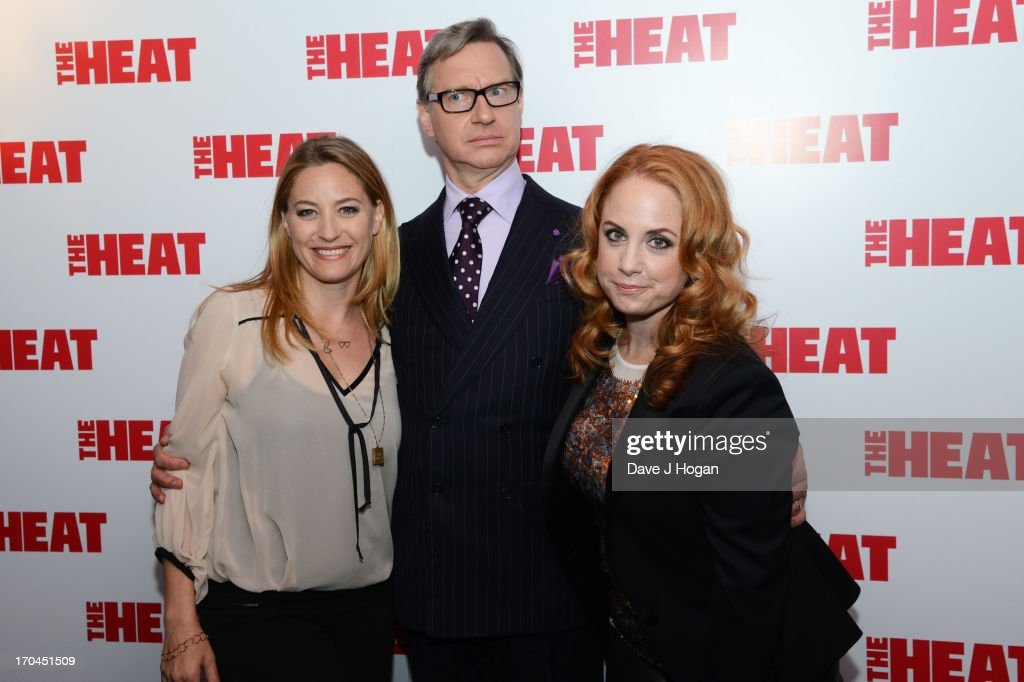 Jamie Denbo, Paul Feig and Jessica Chaffin attend a gala screening of 'The Heat' at The Curzon Mayfair on June 13, 2013 in London, England.