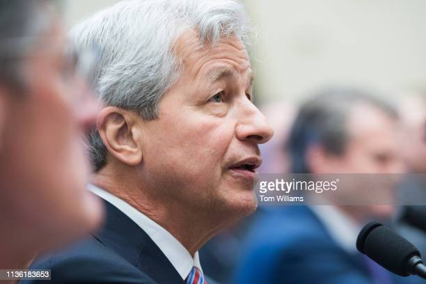 Jamie Dimon CEO of JPMorgan Chase testifies during a House Financial Services Committee hearing in Rayburn Building titled Holding Megabanks...