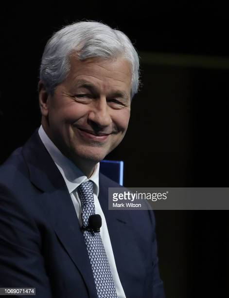 Jamie Dimon chairman and CEO of JPMorgan Chase participates in a Business Roundtable discussion on Ambitious Innovation sustaining US leadership...