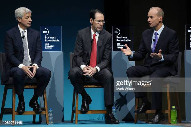 Jamie Dimon chairman and CEO of JPMorgan Chase Randall Stephenson chairman and CEO of ATT Inc and Dennis Muilenburg chairman president and CEO of the...