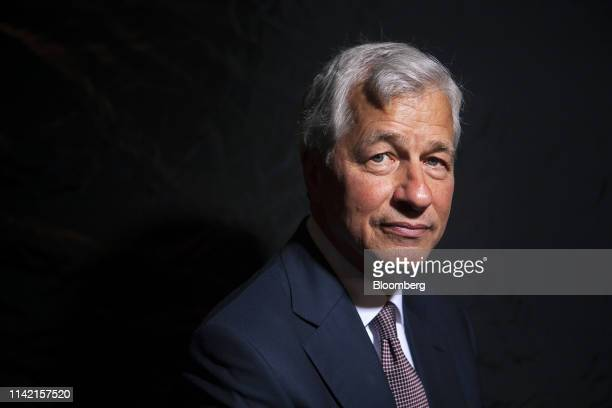 Jamie Dimon, chief executive officer of JPMorgan Chase & Co., poses for a photograph on the sidelines of the JP Morgan Global China Summit in...