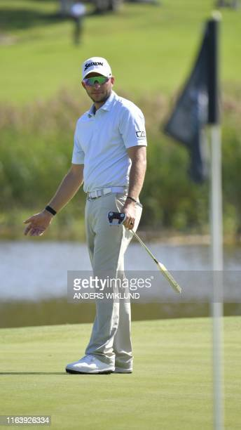 Jamie Donaldson from Wales on ball 35 during the PGA European Tour golf tournament Scandinavian Invitation at Hills Golf and Sports Club in Molndal...