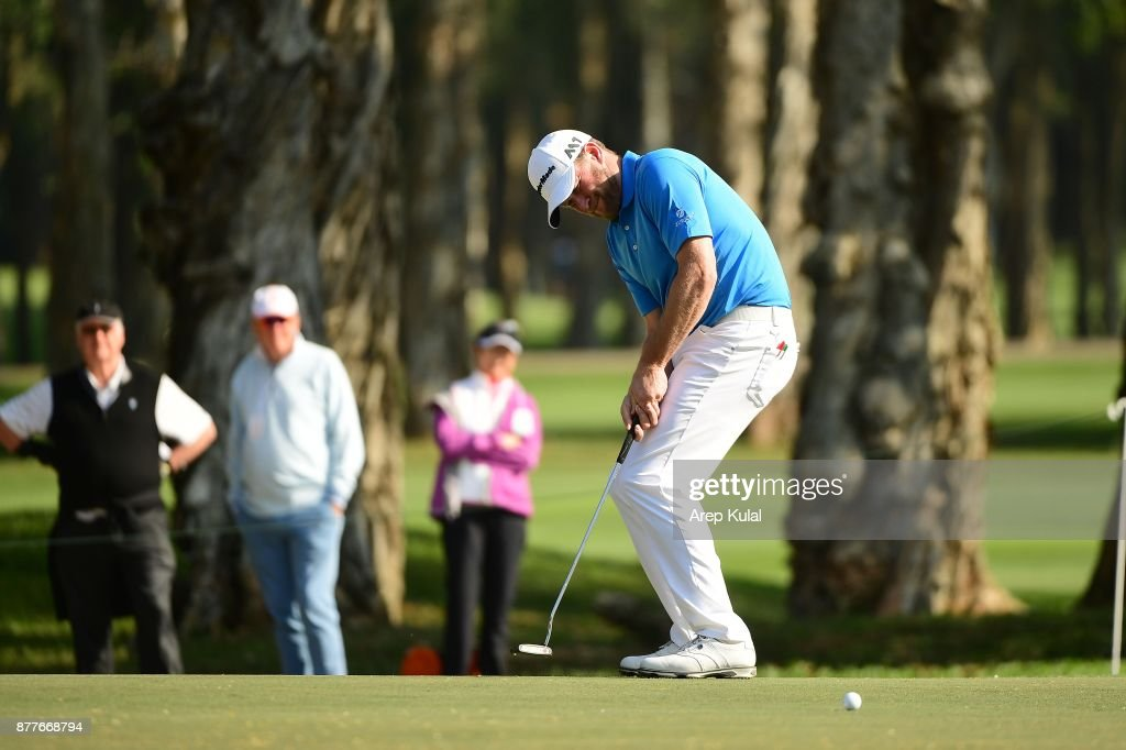 Jamie Donaldson of Wales pictured during round one of the UBS Hong Kong Open at The Hong Kong Golf Club on November 23, 2017 in Hong Kong, Hong Kong.