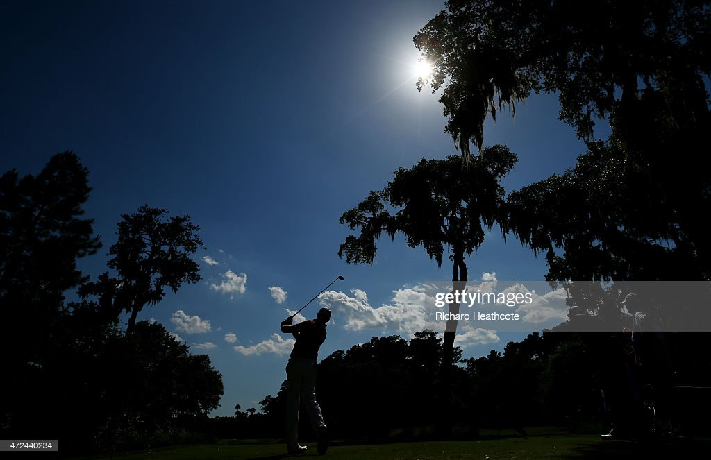 Jamie Donaldson of Wales plays his shot from the sixth tee during round one of THE PLAYERS Championship at the TPC Sawgrass Stadium course on May 7, 2015 in Ponte Vedra Beach, Florida.