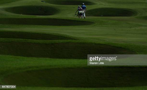 Jamie Donaldson of Wales walks up to the 18th green during the third round of the Tshwane Open at Pretoria Country Club on March 4 2017 in Pretoria...