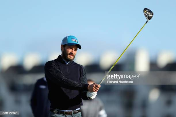 Jamie Dornan Actor in action during day two of the 2017 Alfred Dunhill Championship at Carnoustie on October 6 2017 in Carnoustie Scotland