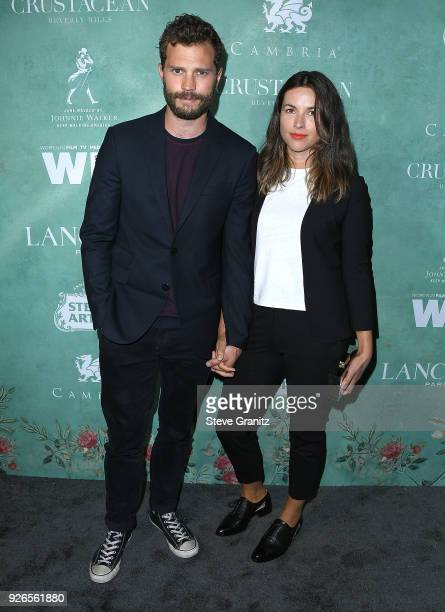 Jamie Dornan Amelia Warner arrives at the 11th Annual Celebration Of The 2018 Female Oscar Nominees Presented By Women In Film at Crustacean on March...