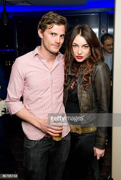 Jamie Dornan and actress Lois Winston attend the Beyond the Rave launch party held at Shoreditch House on April 16 2008 in London England