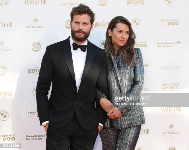 Jamie Dornan and Amelia Warner arriving for the Old Vic Bicentenary Ball at the Old Vic in Lambeth London