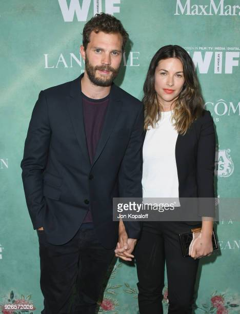 Jamie Dornan and Amelia Warner attend the 11th Annual Celebration Of The 2018 Female Oscar Nominees Presented By Women In Film at Crustacean on March...
