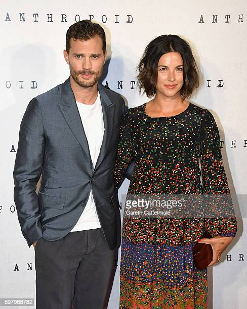 Jamie Dornan and Amelia Warner attend the 'Anthropoid' UK film premiere at the BFI Southbank on August 30 2016 in London England
