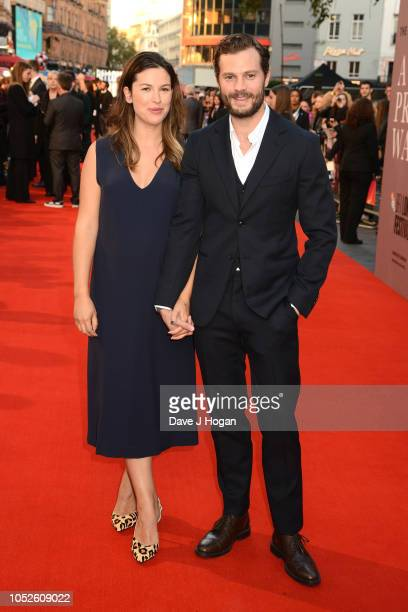 Jamie Dornan and Amelia Warner attend the European Premiere of A Private War Mayor of London gala during the 62nd BFI London Film Festival on October...