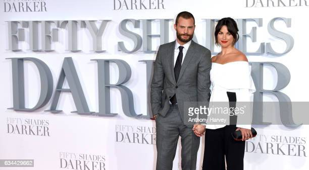 Jamie Dornan and Amelia Warner attend the 'Fifty Shades Darker' UK Premiere on February 9 2017 in London United Kingdom