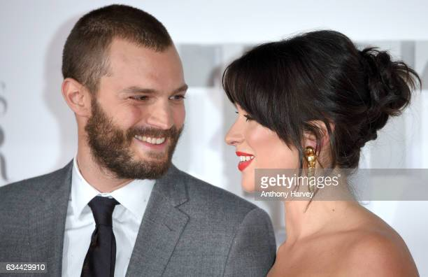 Jamie Dornan and Amelia Warner attend the Fifty Shades Darker UK Premiere on February 9 2017 in London United Kingdom