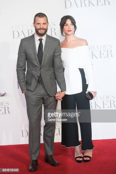 Jamie Dornan and Amelia Warner attend the 'Fifty Shades Darker' UK Premiere on February 9 2017 in London United Kingdom
