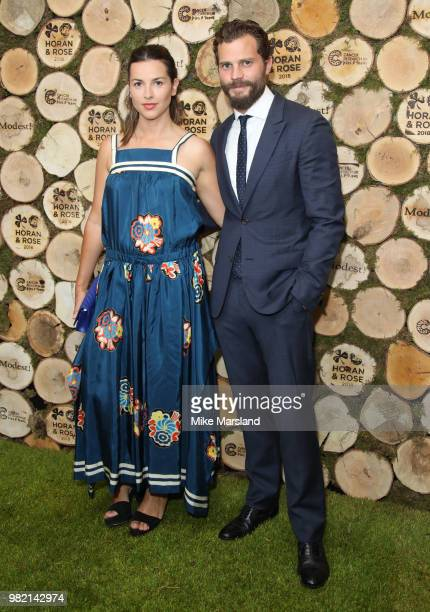 Jamie Dornan and Amelia Warner attend the Horan And Rose Charity Event held at The Grove on June 23 2018 in Watford England