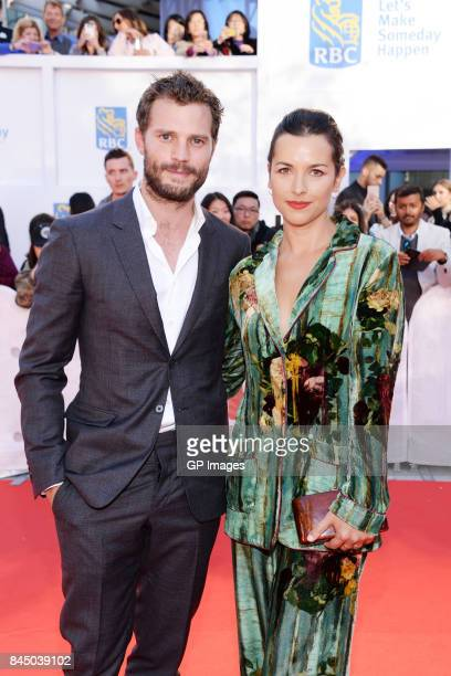 Jamie Dornan and Amelia Warner attend the 'Mary Shelley' premiere during the 2017 Toronto International Film Festival at Roy Thomson Hall on...