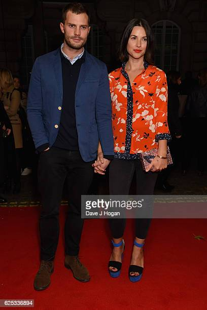 Jamie Dornan and Amelia Warner attend the UK film premiere of 'Mum's List' at The Curzon Mayfair on November 23 2016 in London England