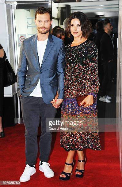 Jamie Dornan and Amelia Warner attend the UK premiere of 'Anthropoid' at BFI Southbank on August 30 2016 in London England