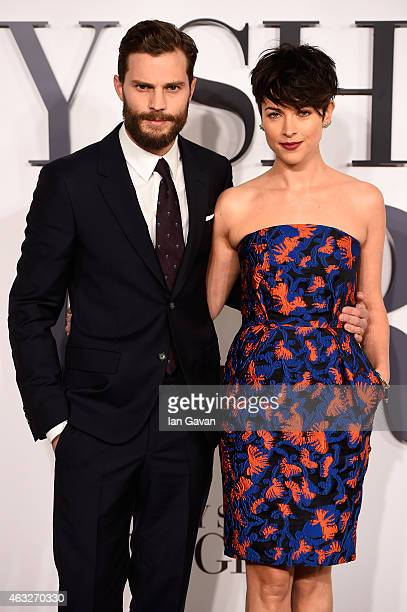 Jamie Dornan and Amelia Warner attend the UK Premiere of 'Fifty Shades Of Grey' at Odeon Leicester Square on February 12 2015 in London England