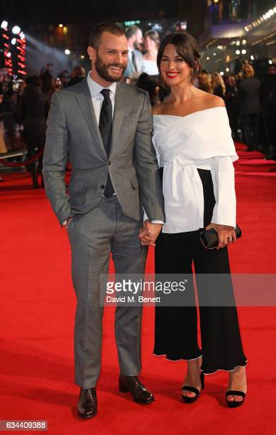 Jamie Dornan and Amelia Warner attend the UK Premiere of Fifty Shades Darker at Odeon Leicester Square on February 9 2017 in London United Kingdom
