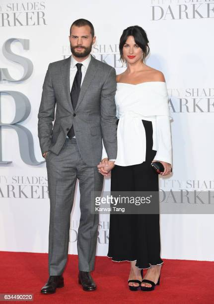 Jamie Dornan and Amelia Warner attend the UK Premiere of 'Fifty Shades Darker' at the Odeon Leicester Square on February 9 2017 in London United...