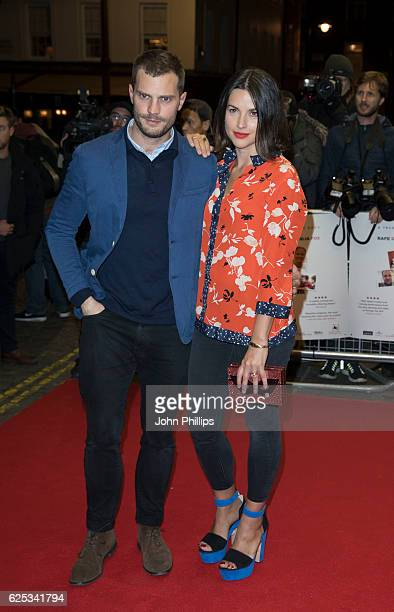 Jamie Dornan and Amelia Warner attends the UK film premiere of 'Mum's List' at The Curzon Mayfair on November 23 2016 in London England