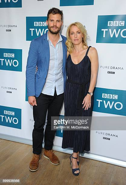 Jamie Dornan and Gillian Anderson attend the screening of BBC Two drama 'The Fall' to launch series three at BFI Southbank on September 7 2016 in...