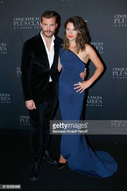 Jamie Dornan and his wife Amelia Warner attend the 'Fifty Shades Freed 50 Nuances Plus Clair' Paris Premiere at Salle Pleyel on February 6 2018 in...