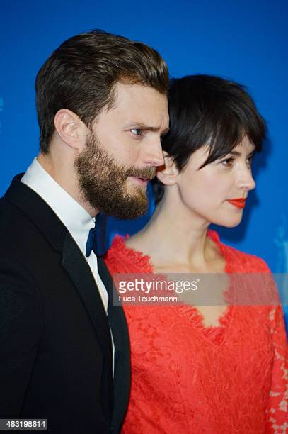 Jamie Dornan and his wife Amelia Warner attend the 'Fifty Shades of Grey' International Premiere during the 65th Berlinale International Film...