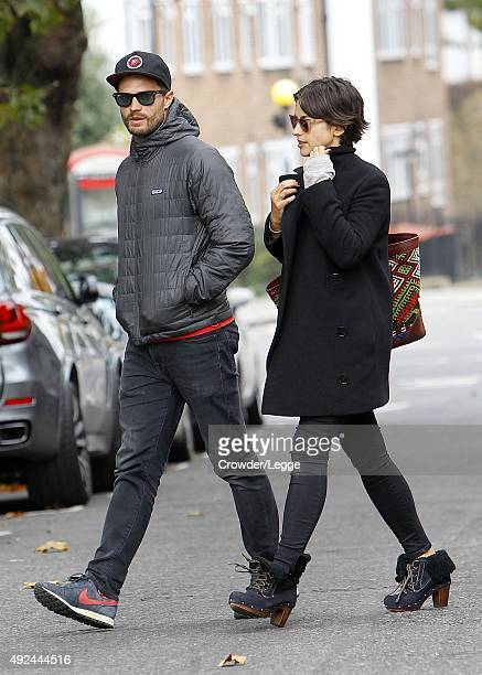 Jamie Dornan and his wife Amelia Warner sighting on October 13 2015 in London England