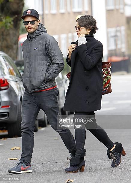 Jamie Dornan and his wife Amelia Warner sighting on October 13 2015 in London England