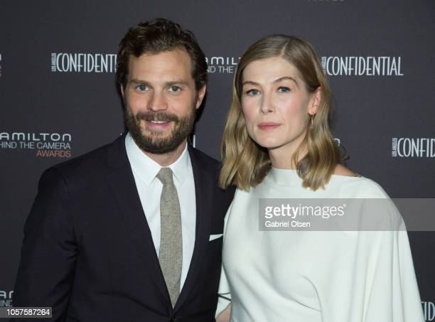 Jamie Dornan and Rosamund Pike arrive for the 10th Hamilton Behind the Camera Awards at Exchange LA on November 4 2018 in Los Angeles California