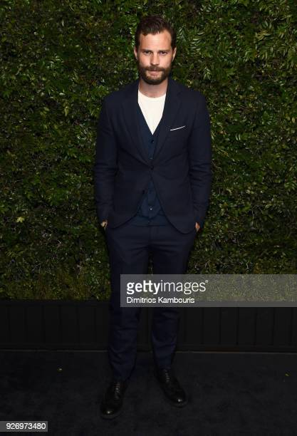 Jamie Dornan attends Charles Finch and Chanel PreOscar Awards Dinner at Madeo in Beverly Hills on March 3 2018 in Beverly Hills California