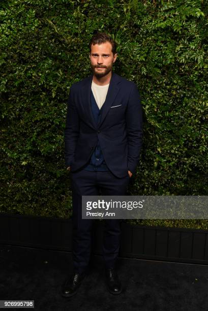 Jamie Dornan attends Charles Finch And Chanel PreOscar Awards Dinner At Madeo in Beverly Hills at Madeo Restaurant on March 3 2018 in Los Angeles...