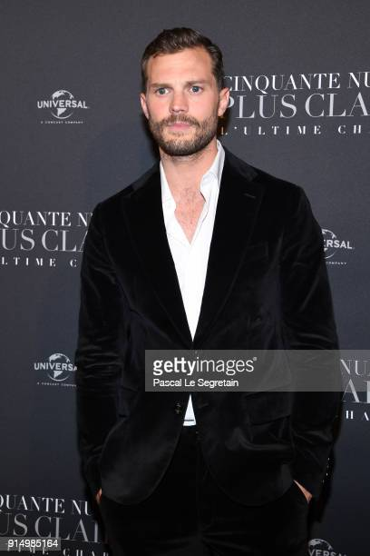 Jamie Dornan attends 'Fifty Shades Freed 50 Nuances Plus Claires' Premiere at Salle Pleyel on February 6 2018 in Paris France