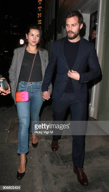 Jamie Dornan attends Soho House VIP relaunch party on January 18 2018 in London England