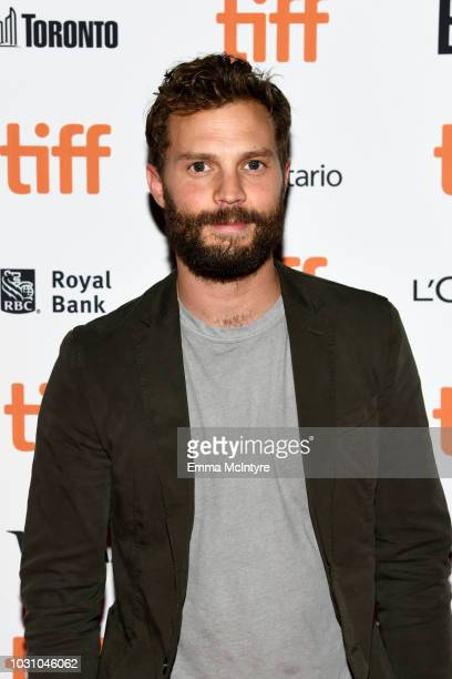 Jamie Dornan attends the A Million Little Pieces premiere during 2018 Toronto International Film Festival at Ryerson Theatre on September 10 2018 in...