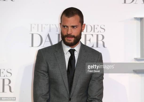 Jamie Dornan attends the Fifty Shades Darker UK Premiere on February 9 2017 in London United Kingdom
