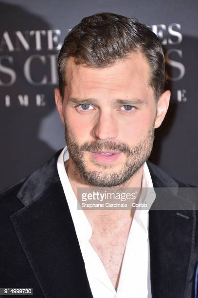 Jamie Dornan attends the 'Fifty Shades Freed 50 Nuances Plus Clair' Paris Premiere at Salle Pleyel on February 6 2018 in Paris France