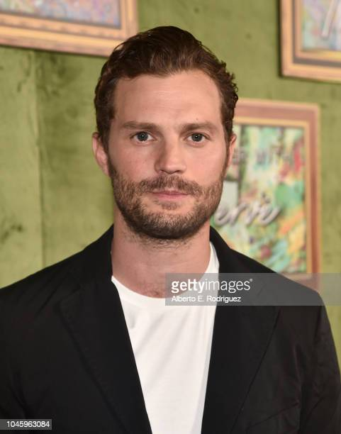 Jamie Dornan attends the premiere of HBO Films' My Dinner With Herve at Paramount Studios on October 4 2018 in Hollywood California