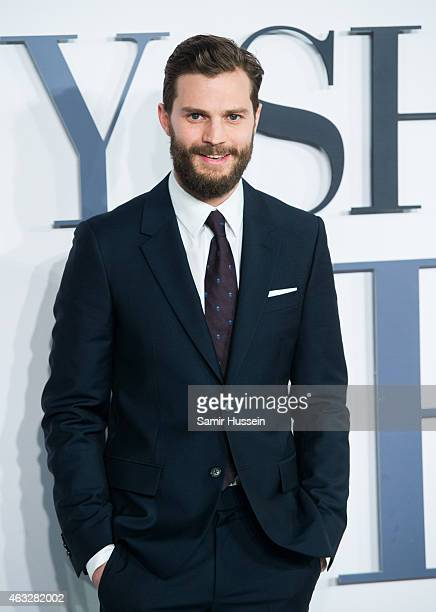 Jamie Dornan attends the UK Premiere of Fifty Shades Of Grey at Odeon Leicester Square on February 12 2015 in London England