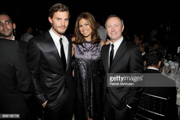 Jamie Dornan Eva Mendes and Kevin Carrigan attend Parsons 2009 Fashion Benefit Honoring Calvin Klein's Tom Murry and Francisco Costa at Cipriani Wall...