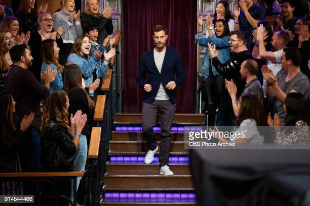 Jamie Dornan greets the audience during 'The Late Late Show with James Corden' Thursday February 1 2018 On The CBS Television Network