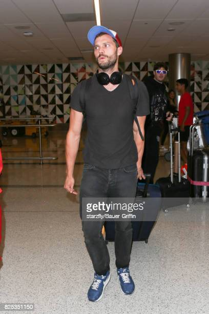 Jamie Dornan is seen at LAX on August 01 2017 in Los Angeles California