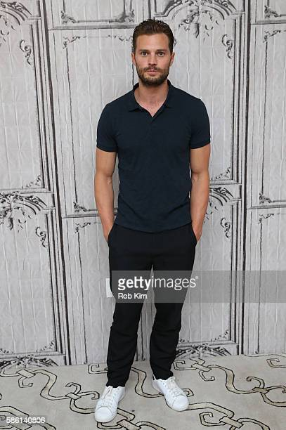 Jamie Dornan poses for a photo at AOL Build at AOL HQ on August 5 2016 in New York City