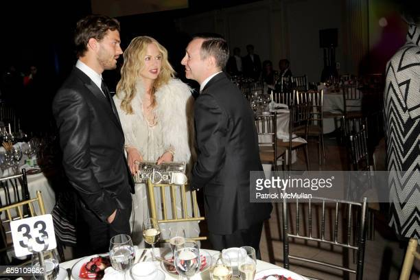 Jamie Dornan Rachel Zoe and Kevin Carrigan attend Parsons 2009 Fashion Benefit Honoring Calvin Klein's Tom Murry and Francisco Costa at Cipriani Wall...